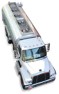 Truck overhead shot